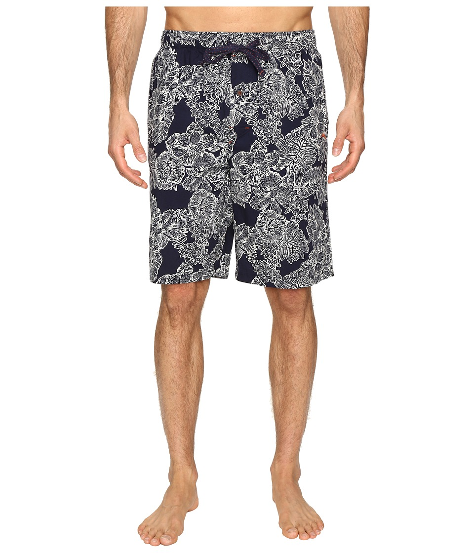 Tommy Bahama - Island Washed Cotton Woven Jam Shorts (Royal Palm Navy) Men's Pajama