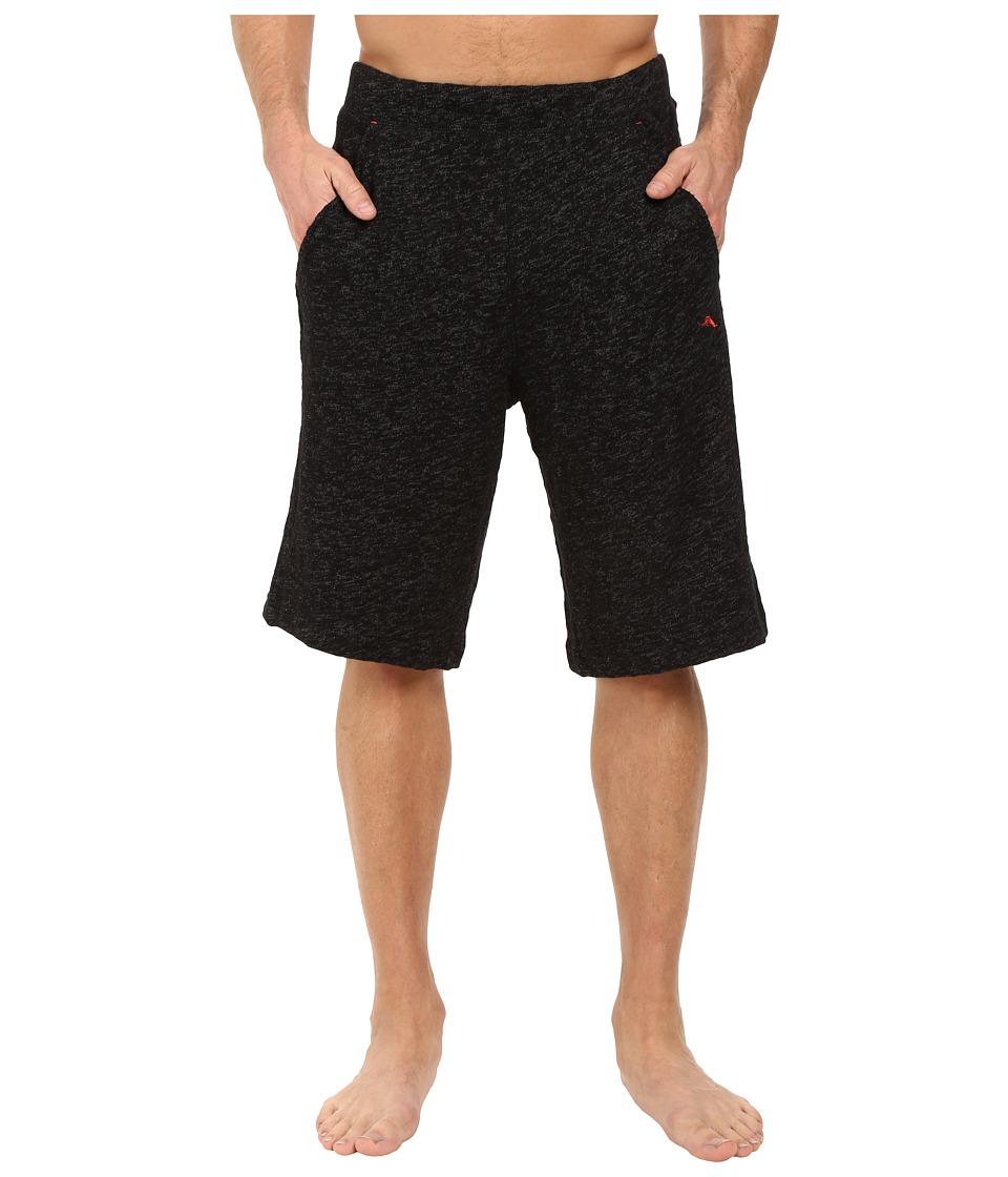 Tommy Bahama Slub Knit Jam Shorts (Black/Coal) Men