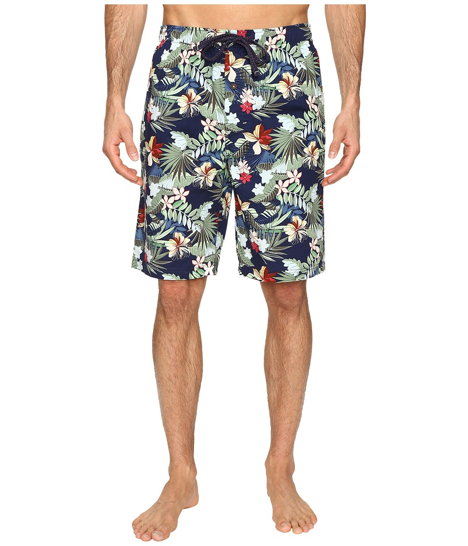 Tommy Bahama - Island Washed Cotton Woven Jam Shorts (Tropical Breeze Navy Multi) Men's Pajama