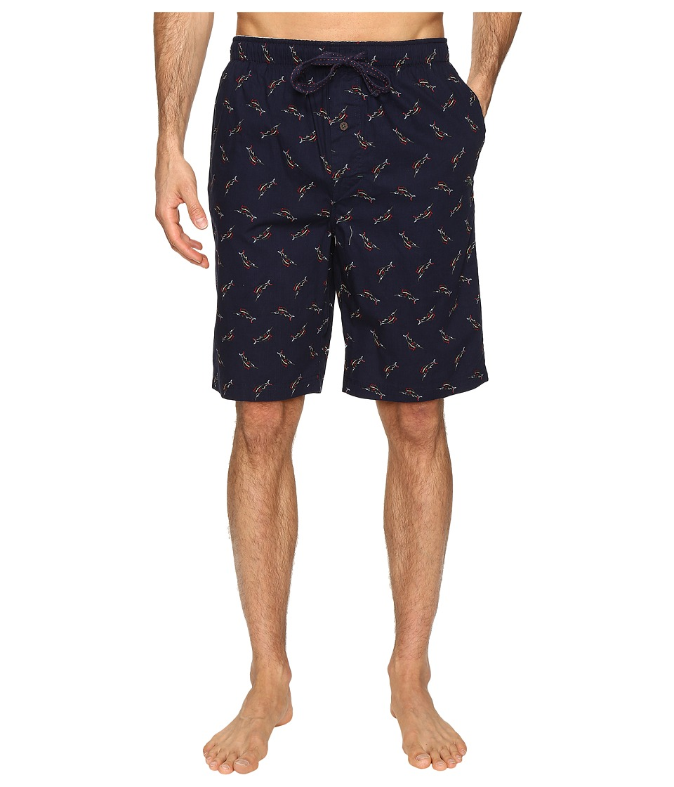 Tommy Bahama Island Washed Cotton Woven Jam Shorts (Tossed Multi Marlin Navy) Men