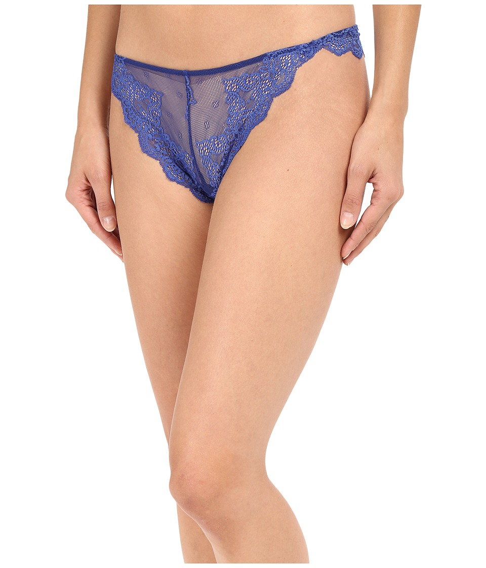 Only Hearts - So Fine Lace Thong (Blu Topaz) Women's Underwear