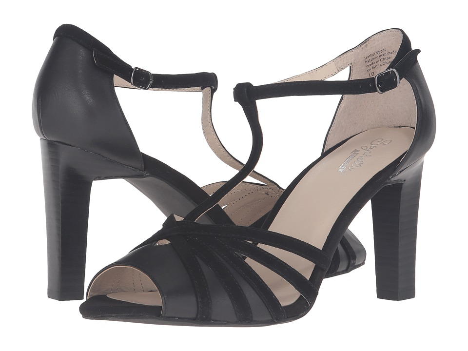 Seychelles - Lap (Black Leather/Black Suede) High Heels