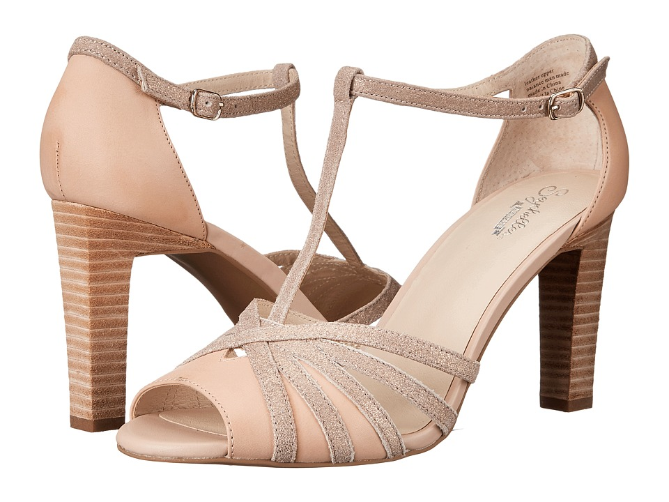 Seychelles - Lap (Nude Leather/Rose Gold Metallic) High Heels