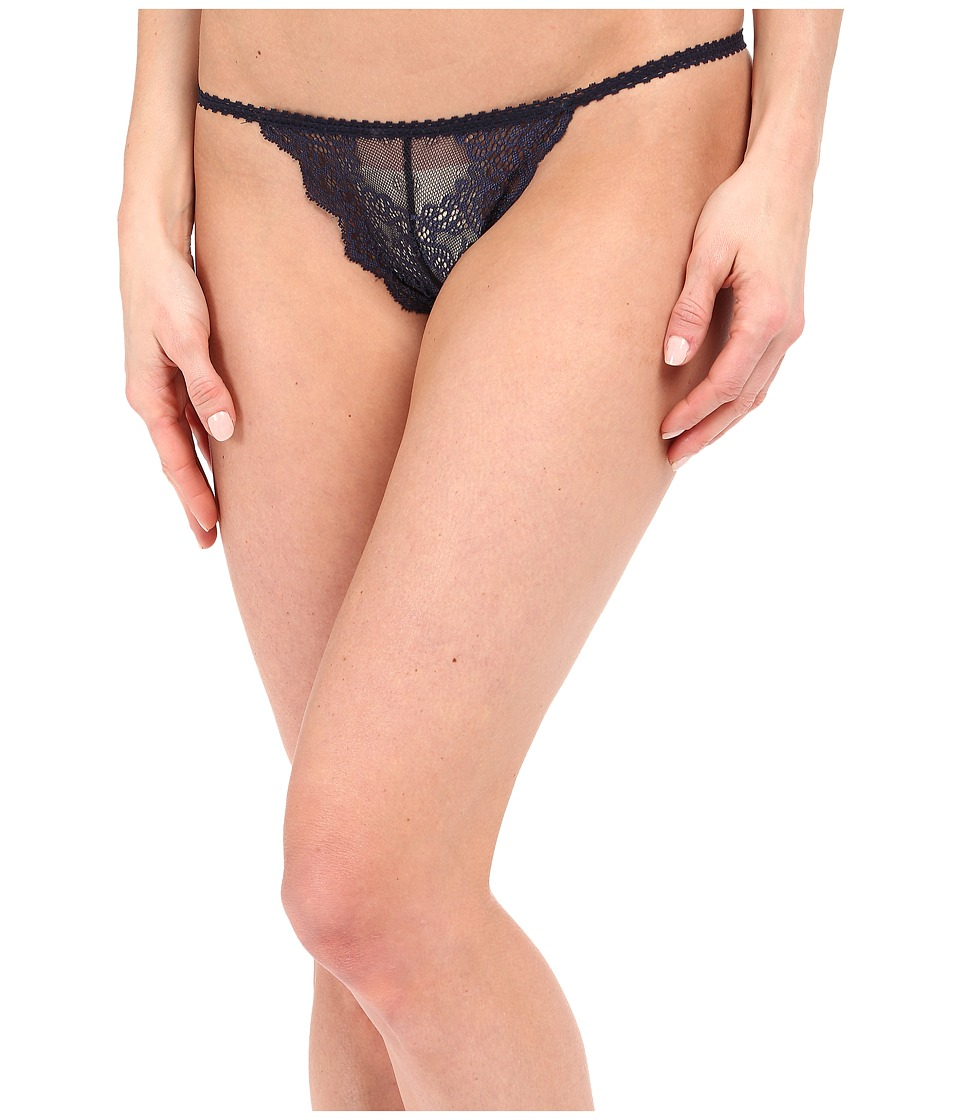 Only Hearts - So Fine Lace G-String (Denim) Women's Underwear