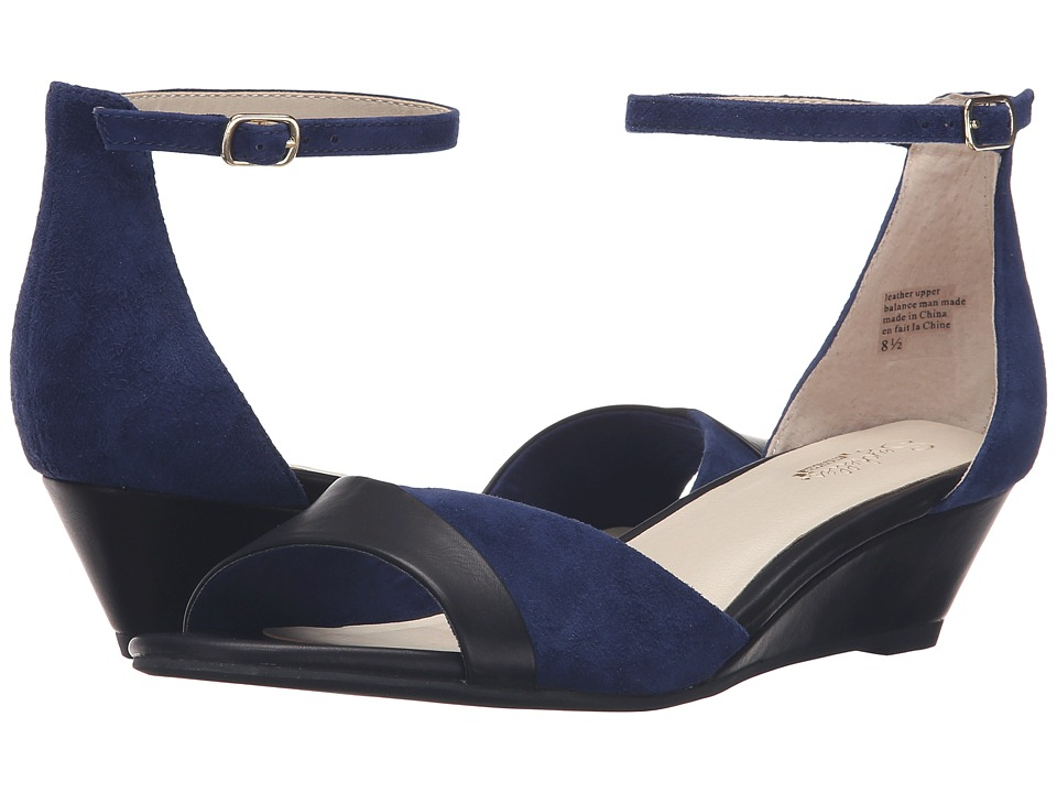Seychelles - Coalition (Indigo Suede/Black Leather) Women's Shoes