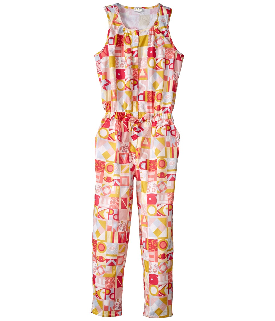 Kenzo Kids - Kenzo Romper (Little Kids/Big Kids) (Light Pink) Girl's Jumpsuit & Rompers One Piece