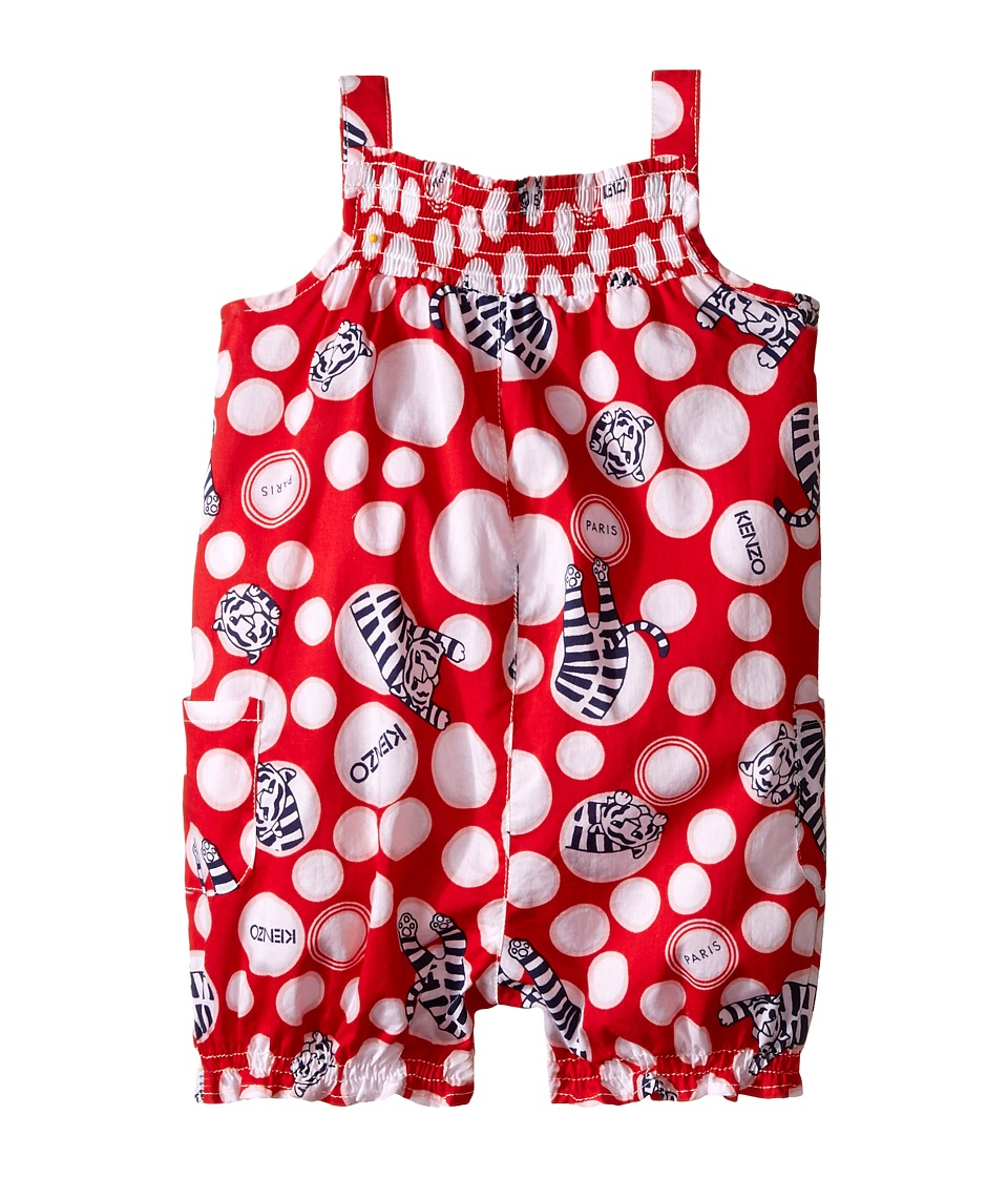 Kenzo Kids - Tirger and White Circle Combi Shorts (Infant) (Red) Girl's Shorts