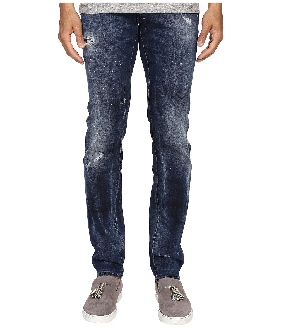 DSQUARED2 - Five-Pocket Bubble Wash Slim Jeans in Blue (Blue) Men's Jeans