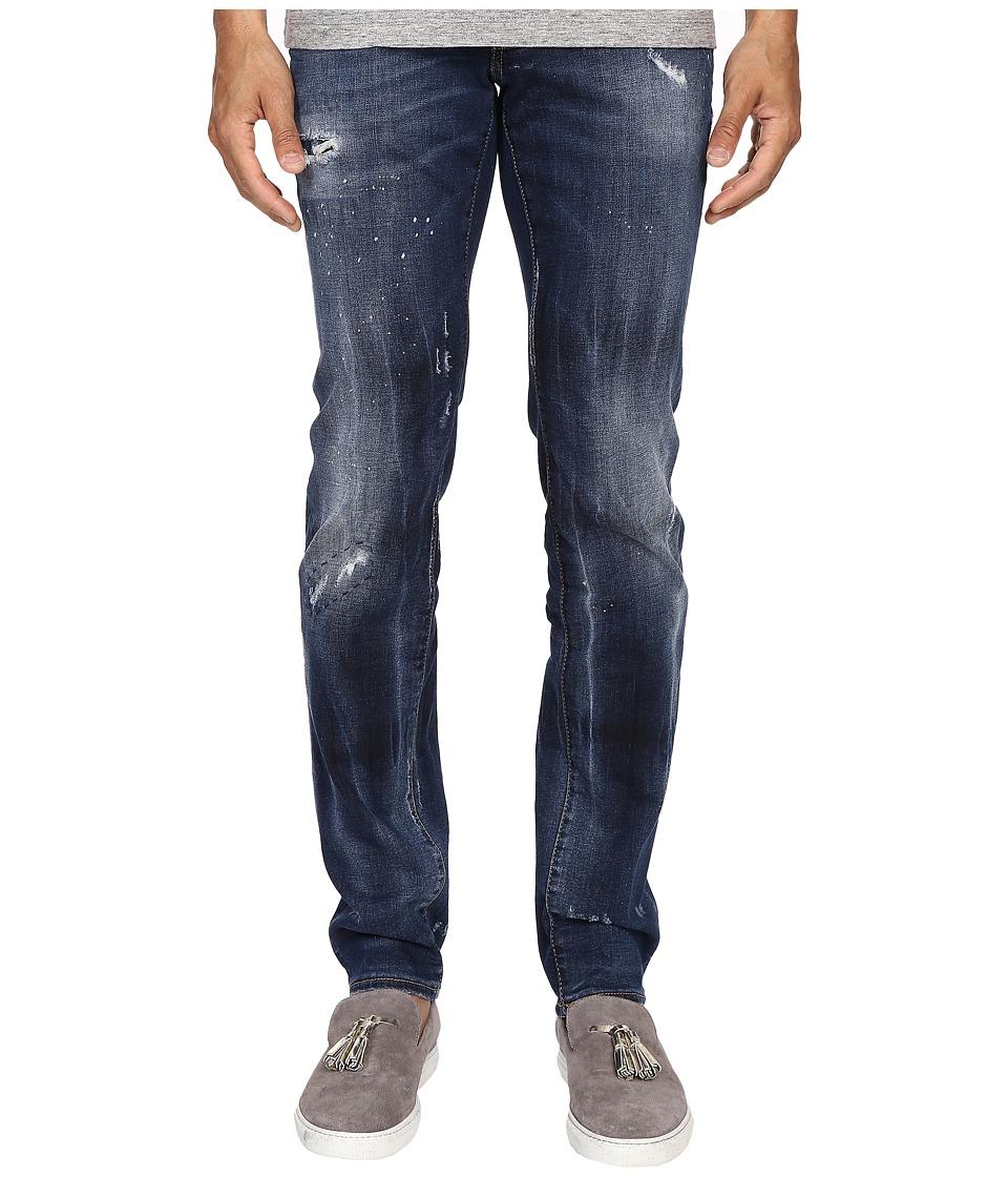DSQUARED2 - Five-Pocket Bubble Wash Slim Jeans in Blue (Blue) Men's Jeans