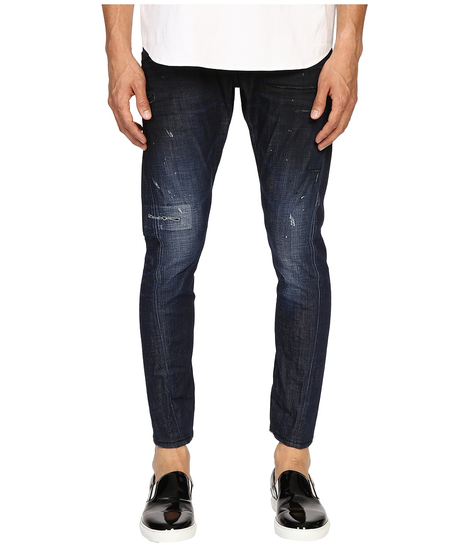 DSQUARED2 - Five-Pocket Sexy Twist Jeans in Blue (Blue) Men's Jeans