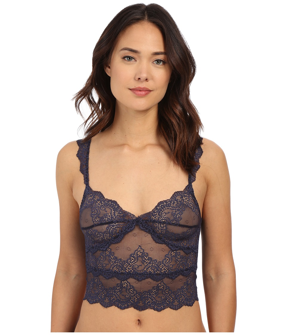 Only Hearts - So Fine w/ Lace Crop Cami (Denim) Women's Lingerie