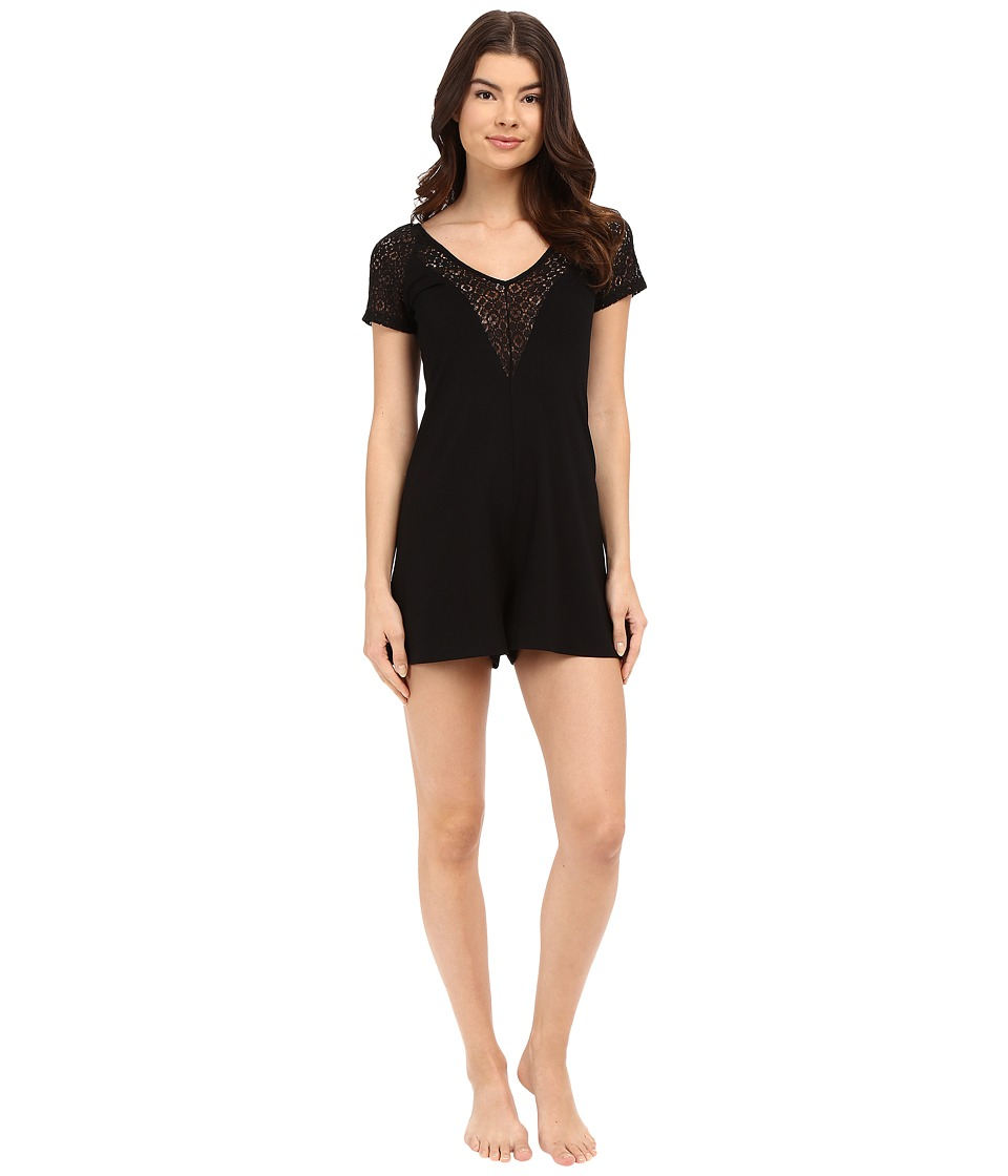 Only Hearts - Black Cat White Cat Romper (Black) Women's Jumpsuit & Rompers One Piece