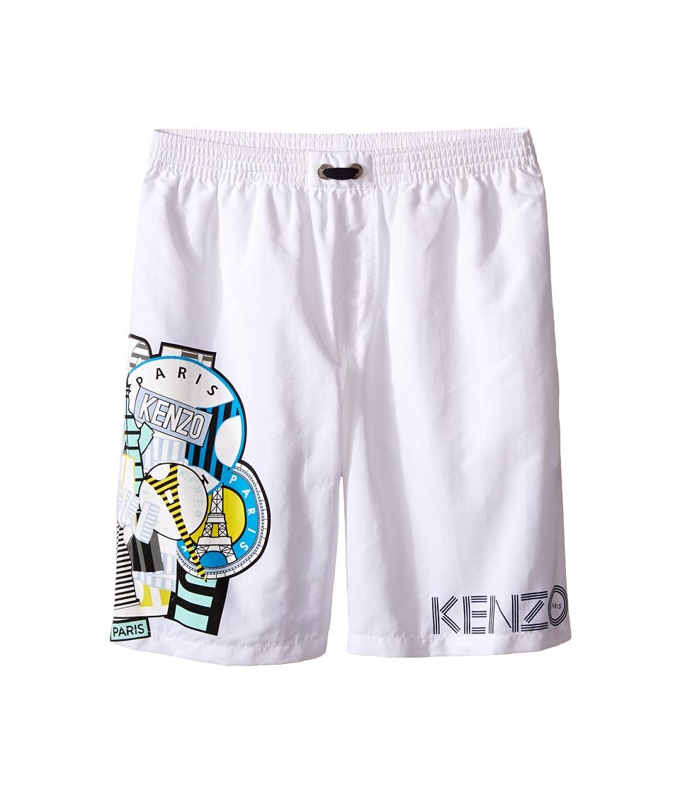 Kenzo Kids - All Over Bathing Trunk (Little Kids/Big Kids) (White) Boy's Swimwear