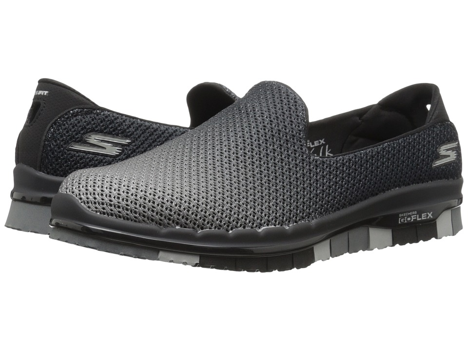 SKECHERS Performance - Go Flex (Black/Gray) Women's Slip on Shoes