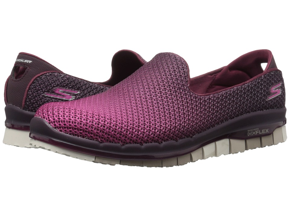 SKECHERS Performance - Go Flex (Burgundy) Women's Slip on Shoes