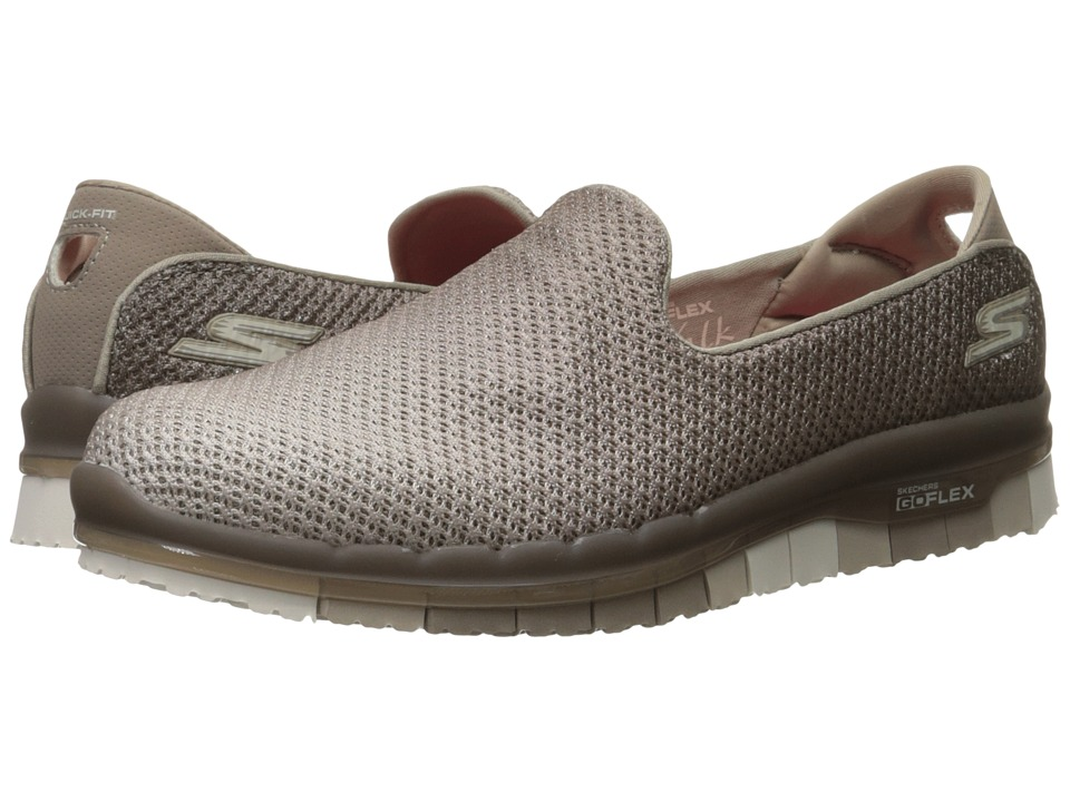 SKECHERS Performance - Go Flex (Taupe) Women's Slip on Shoes
