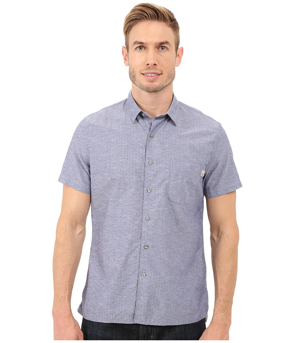 Timberland - Allendale River Slim Fit Chambray Shirt (Blue Print Yarn Dye) Men's Clothing