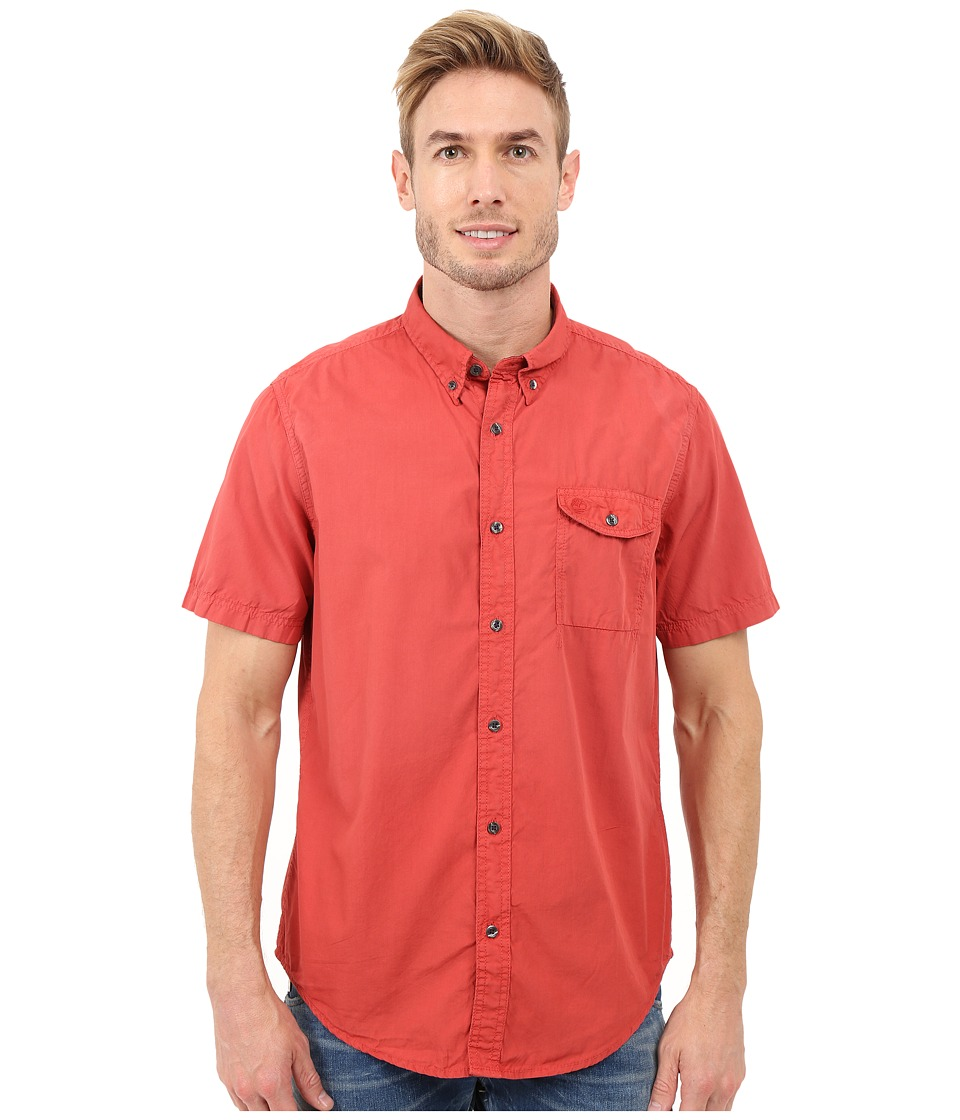 Timberland - Allendale River Saltscrub Poplin Shirt (Haute Red) Men's Clothing