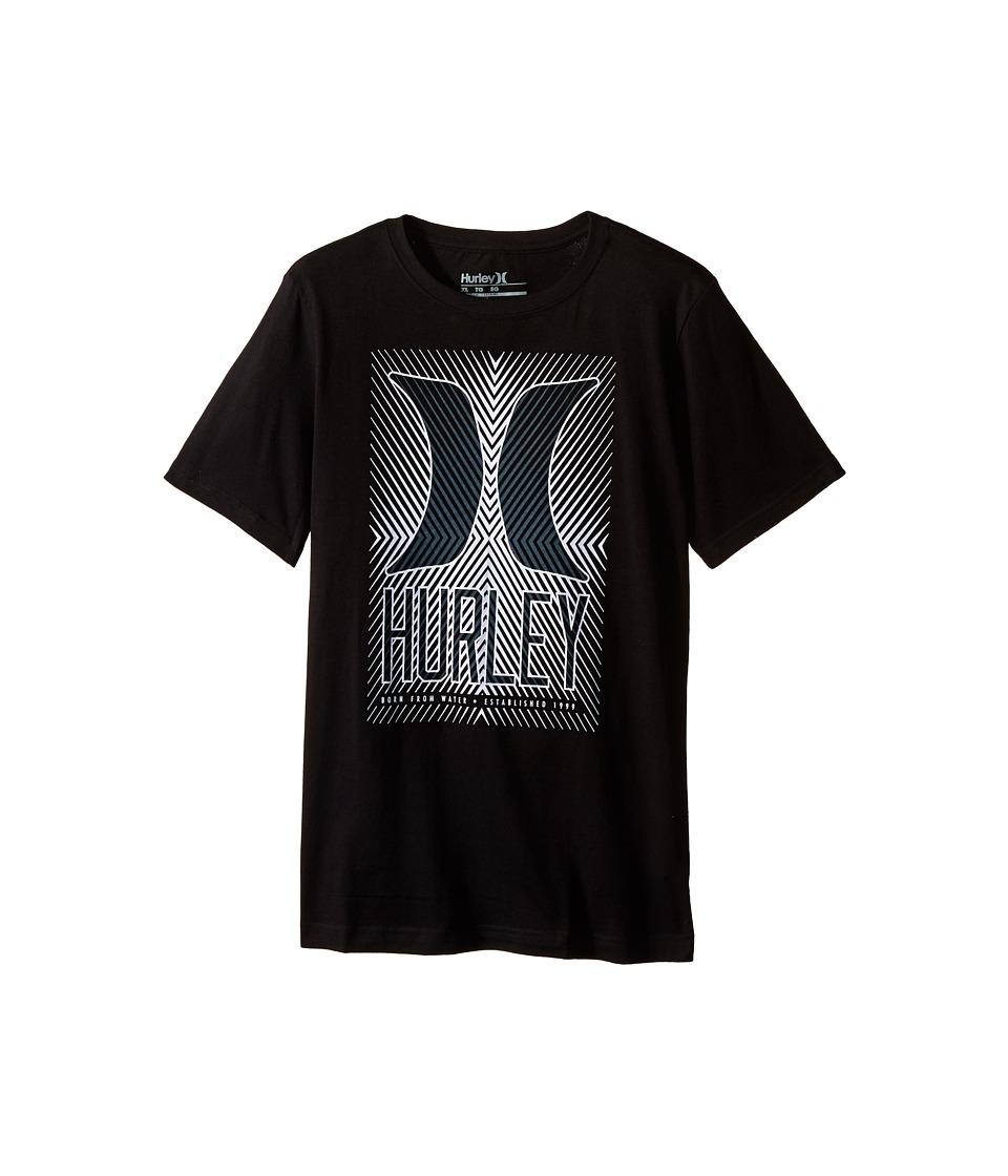 Hurley Kids Statik Short Sleeve Tee (Big Kids) (Black) Boy