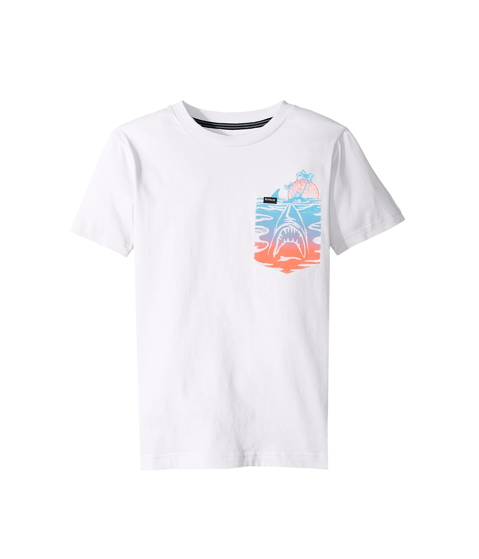 Hurley Kids Pocket Play Tee (Big Kids) (White) Boy