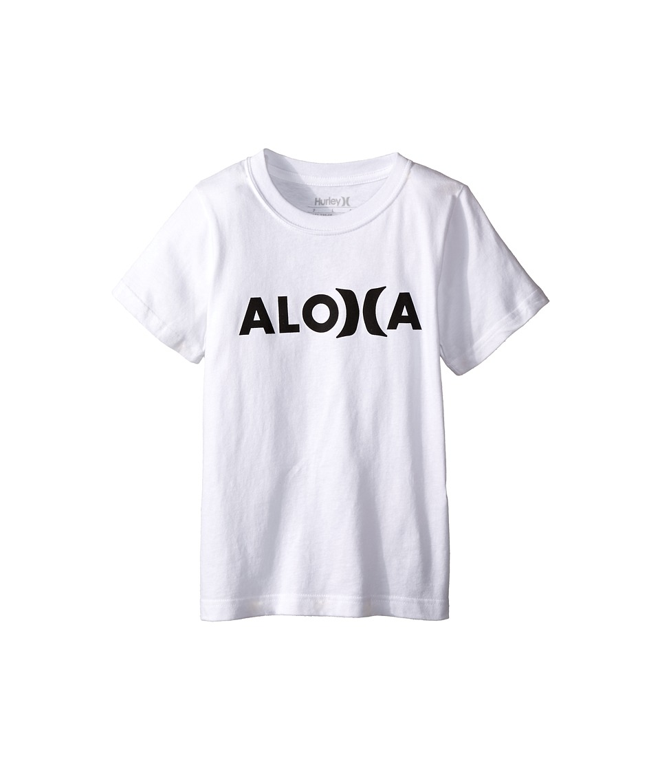 Hurley Kids - Aloha Tee (Little Kids) (White) Boy's T Shirt