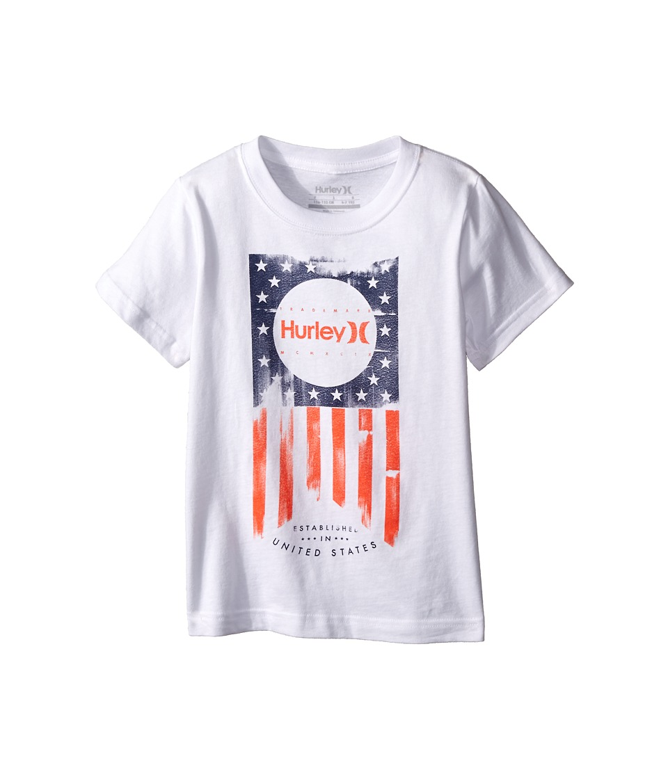 Hurley Kids - One Nation Tee (Little Kids) (White) Boy's T Shirt