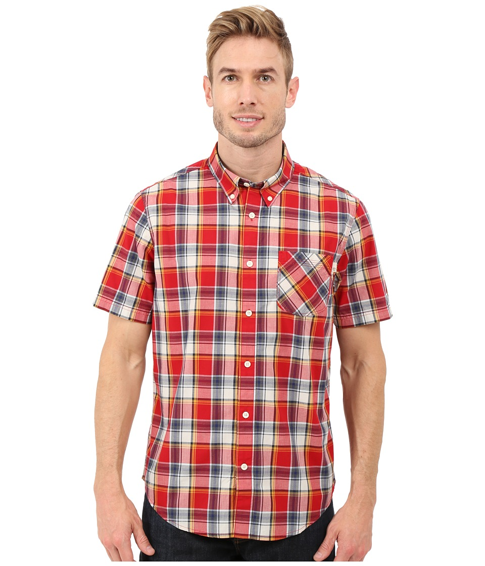 Timberland - Allendale River Plaid Poplin Shirt (Haute Red Yarn Dye) Men's Clothing