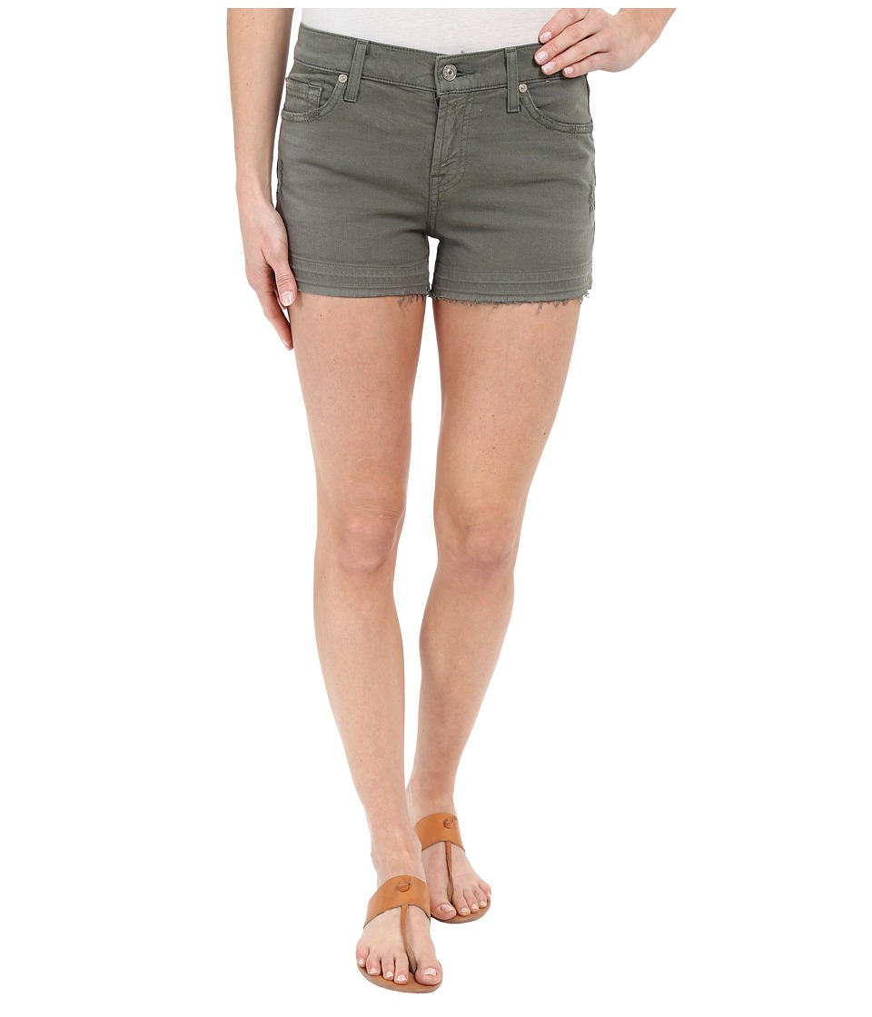 7 For All Mankind - Released Hem Shorts in Fatigue (Fatigue) Women's Shorts