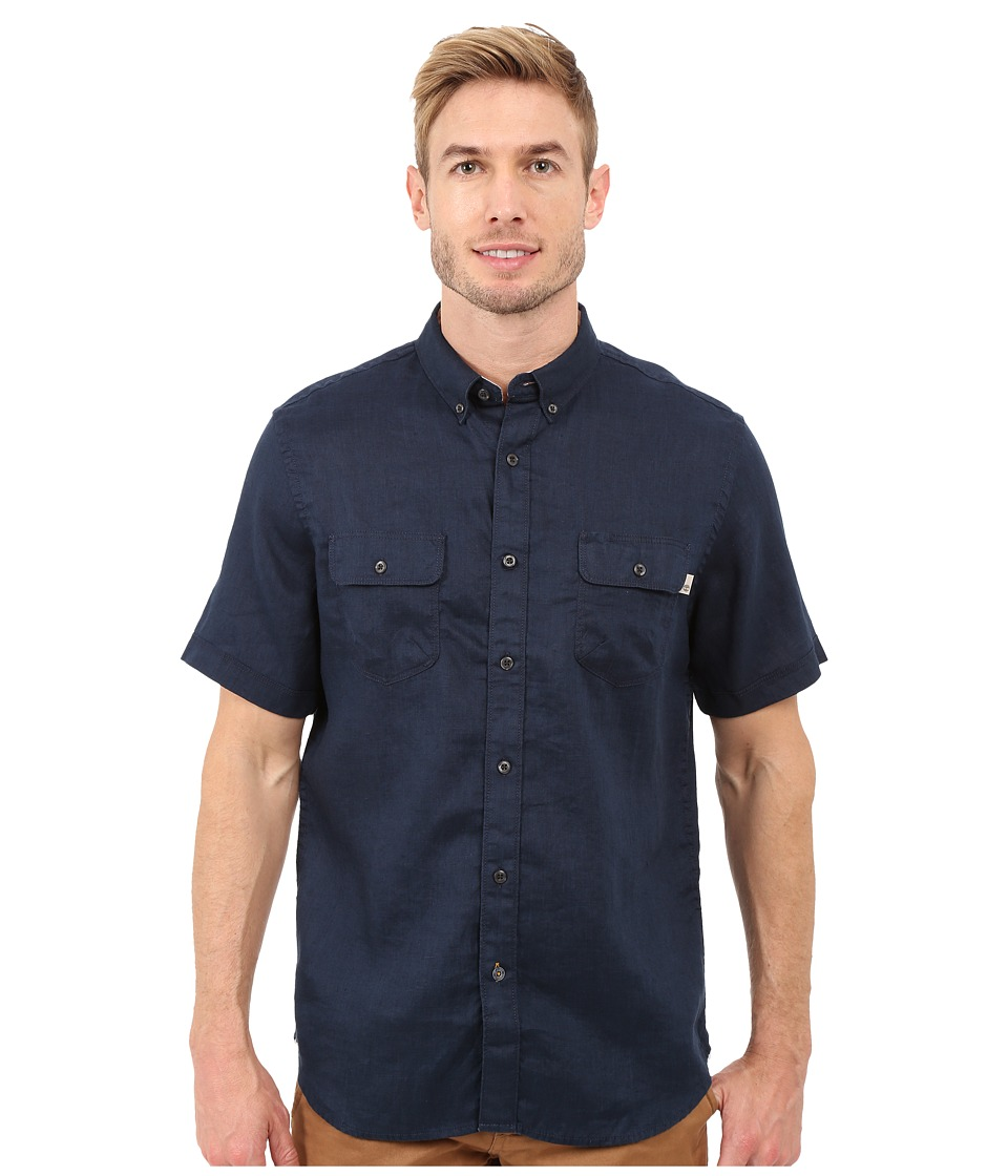 Timberland - Warner River Linen Shirt (Dark Sapphire) Men's Clothing