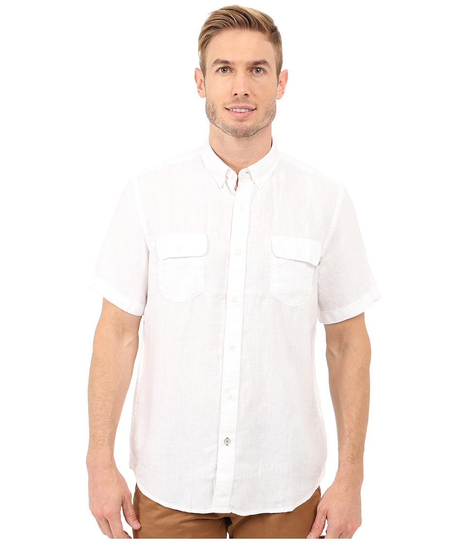 Timberland - Warner River Linen Shirt (White) Men's Clothing