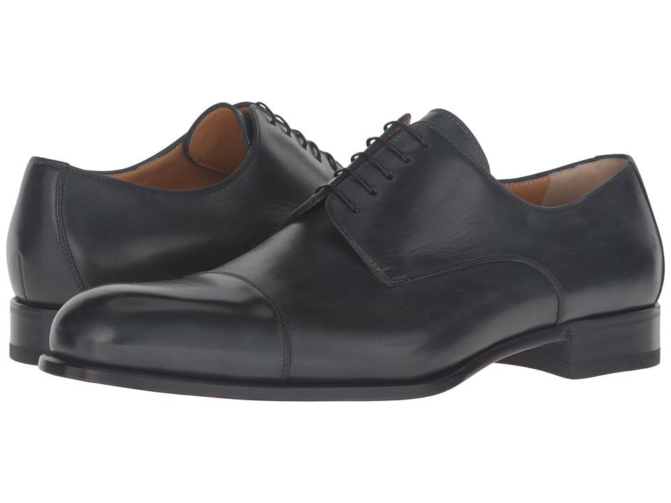 Image of a. testoni - Grainy Shiny Calf Derby (Bottle Green) Men's Shoes