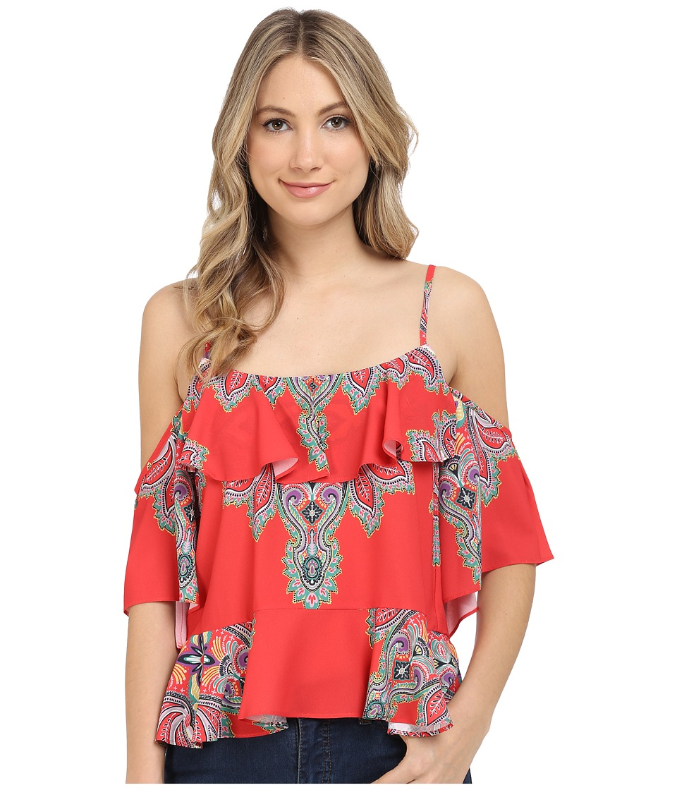 Nicole Miller - Bali Printed Flutter Top (Multi) Women's Clothing