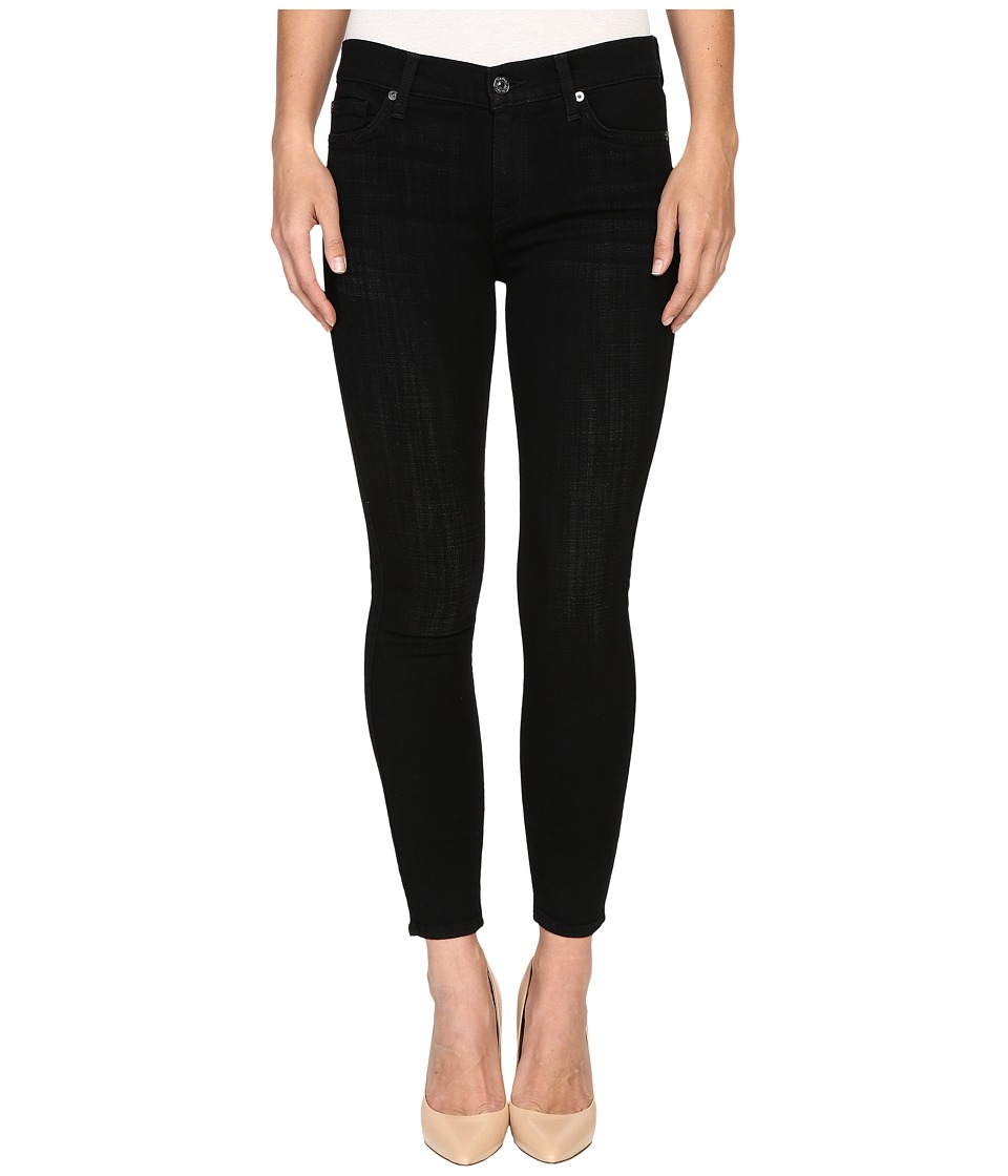 7 For All Mankind The Ankle Skinny in Black Sands Broken Twill (Black Sands Broken Twill) Women
