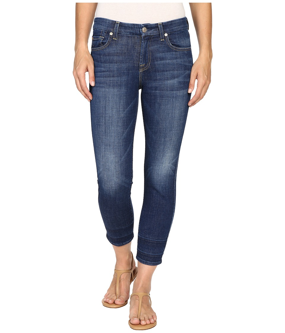 7 For All Mankind - Kimmie Crop with Shadow Hem in Castle Rhodes (Castle Rhodes) Women's Jeans
