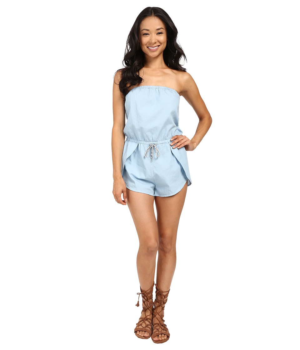 Vans - Mars Denim Romper (Bleach) Women's Jumpsuit & Rompers One Piece