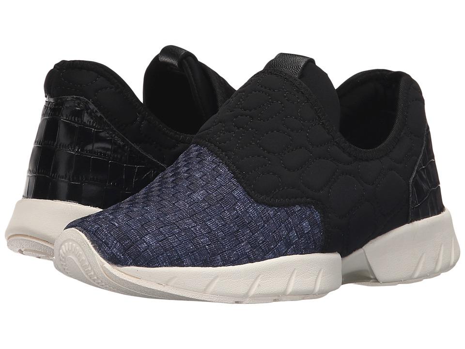 bernie mev. - Razer Speed (Black/Jeans) Women's Slip on Shoes