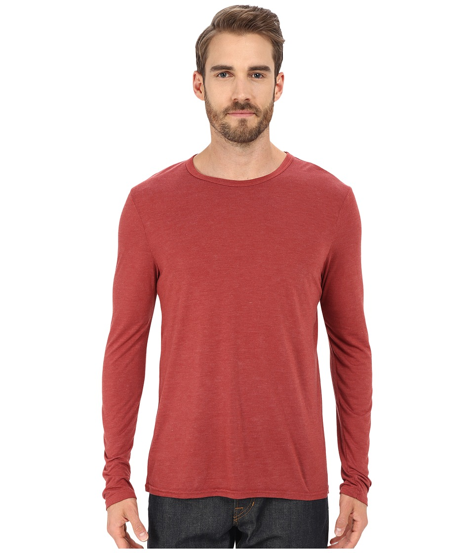 Michael Stars - Long Sleeve Bamboo Crew Neck Tee (Brick) Men's T Shirt