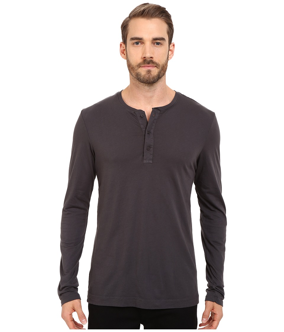 Michael Stars - Long Sleeve Henley (Oxide) Men's Clothing
