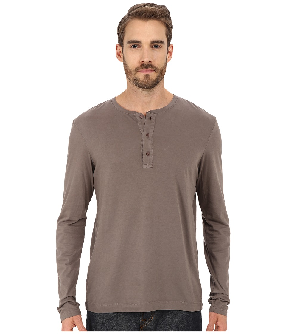 Michael Stars - Long Sleeve Henley (Bedrock) Men's Clothing