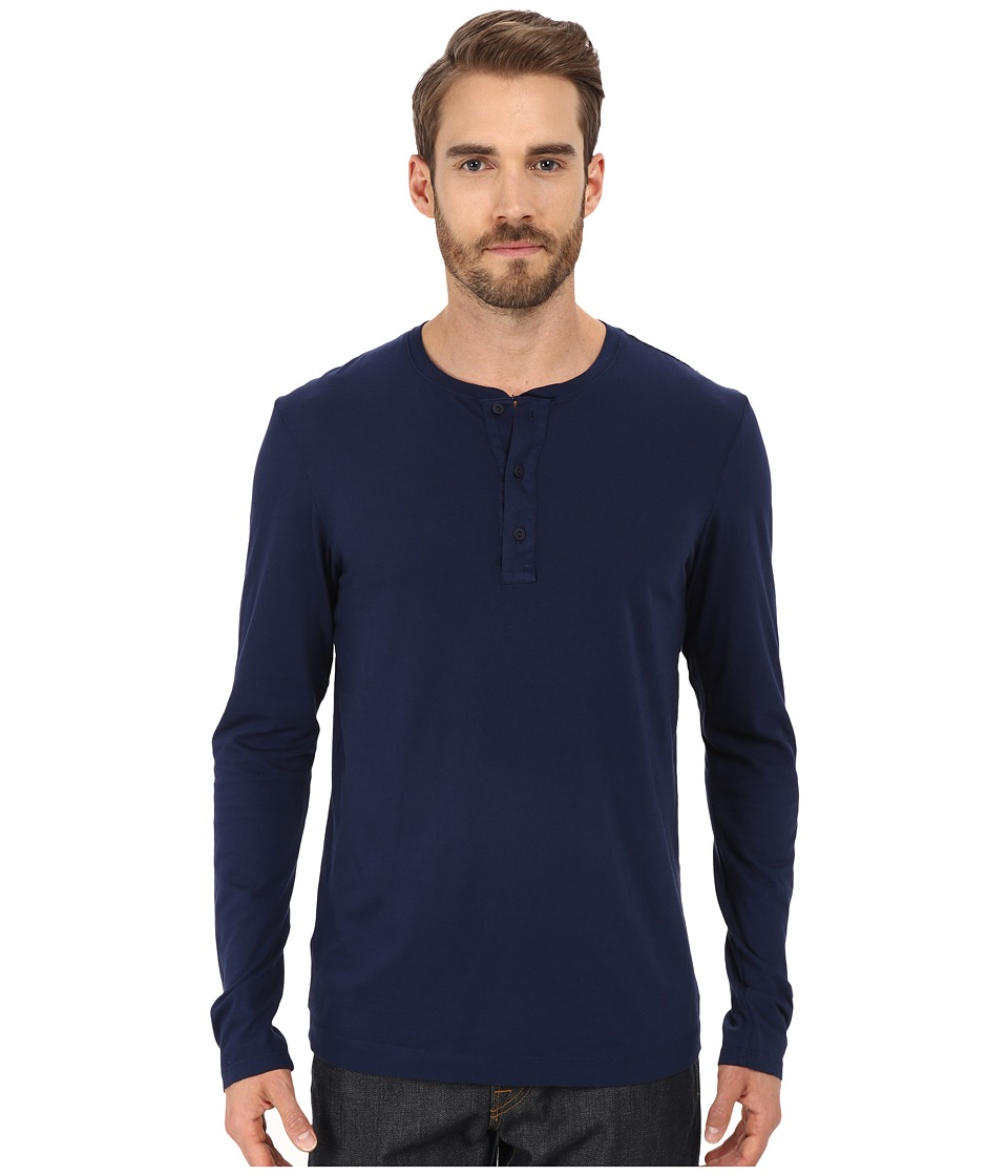 Michael Stars - Long Sleeve Henley (Nocturnal) Men's Clothing