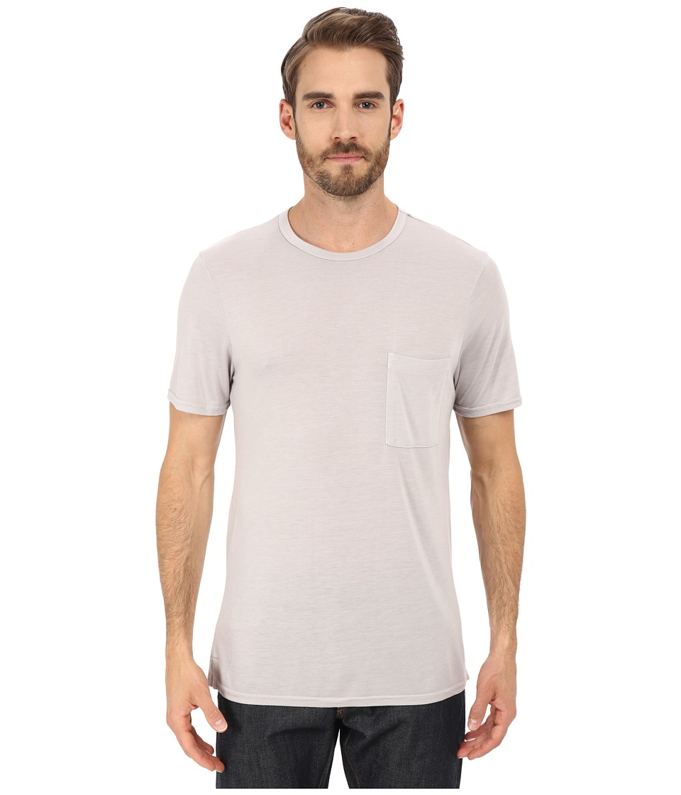 Michael Stars - Short Sleeve Bamboo Crew Neck Pocket Tee (Ether) Men's T Shirt