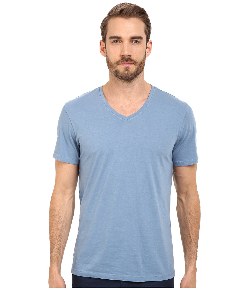 Michael Stars - V-Neck Cotton Tee (Riverbed) Men's T Shirt