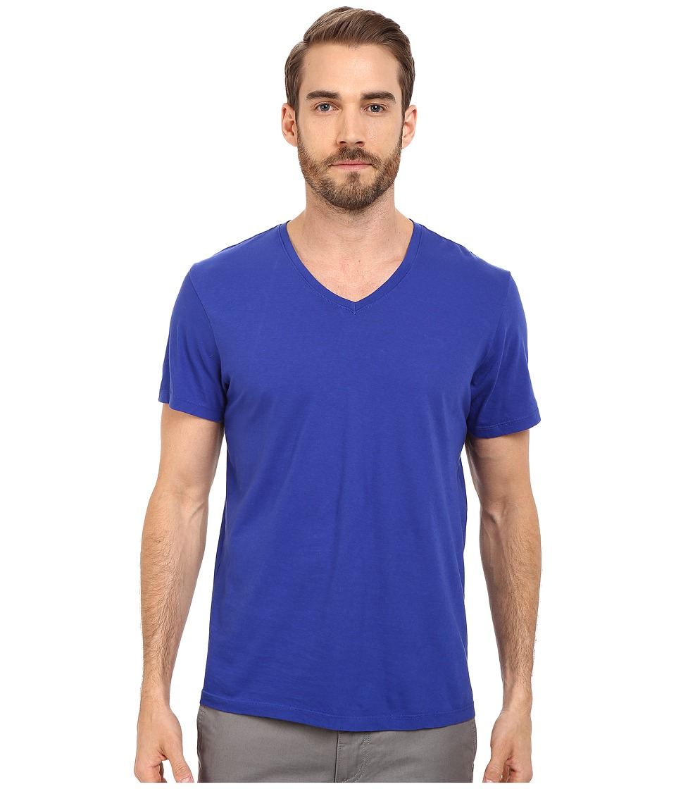 Michael Stars - V-Neck Cotton Tee (Adriatic) Men's T Shirt