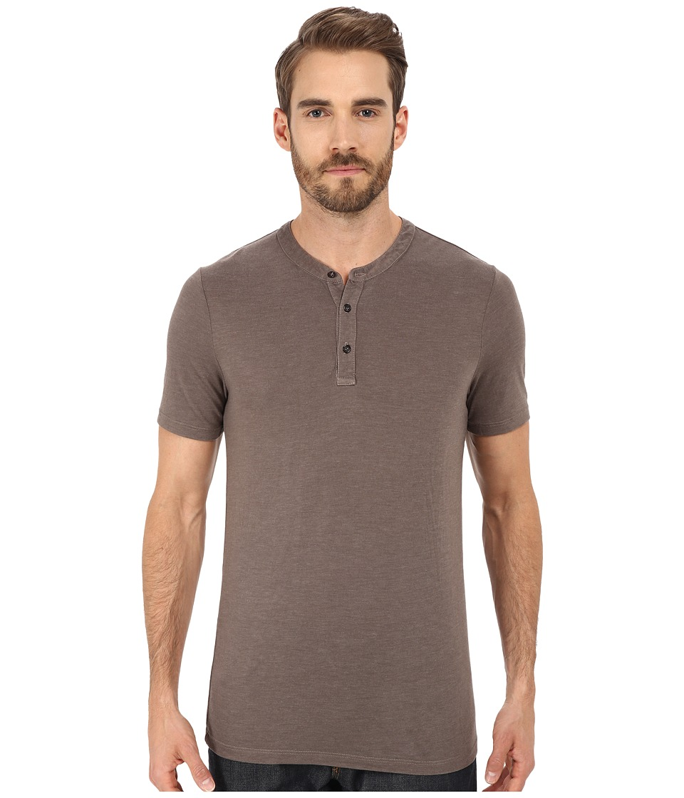 Michael Stars - Short Sleeve Bamboo Henley (Bedrock) Men's Clothing