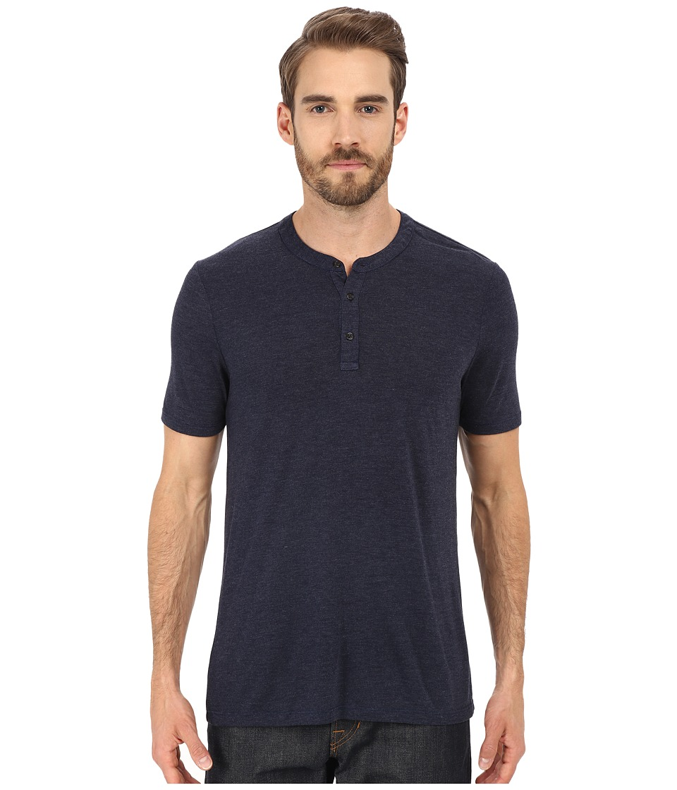 Michael Stars - Short Sleeve Bamboo Henley (Nocturnal) Men's Clothing