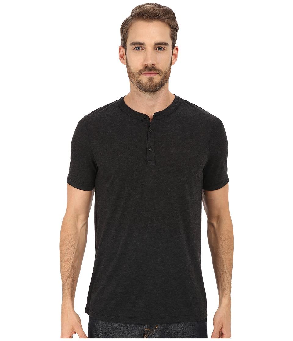 Michael Stars - Short Sleeve Bamboo Henley (Black) Men's Clothing