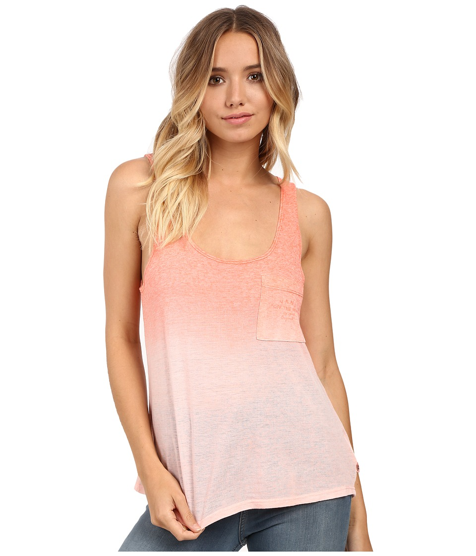 Vans - Fade Pocket Tank Top (Fusion Coral/White) Women's Sleeveless
