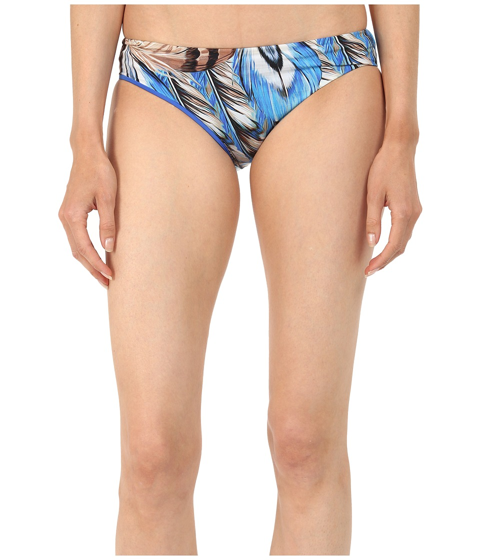 Roberto Cavalli Maxi Plumes Reversible Slip Americano Bottoms (Cerulean) Women