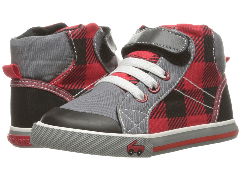 See Kai Run Kids - Dane (Toddler) (Red Plaid) Boy's Shoes
