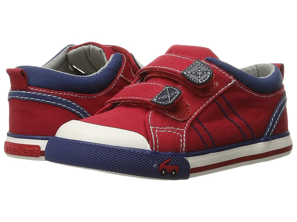 See Kai Run Kids - Hess II (Toddler) (Red/Navy) Boys Shoes